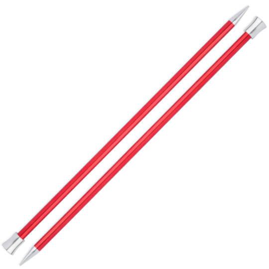 Knitpro Zing 9 mm 35 cm Kırmızı Metal Örgü Şişi - 47307