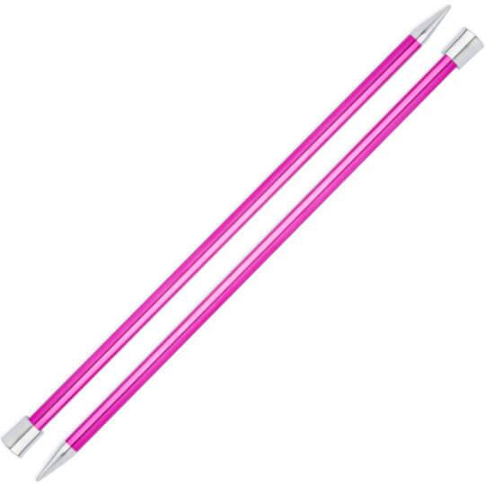 Knitpro Zing 10 mm 35 cm Pembe Metal Örgü Şişi - 47308