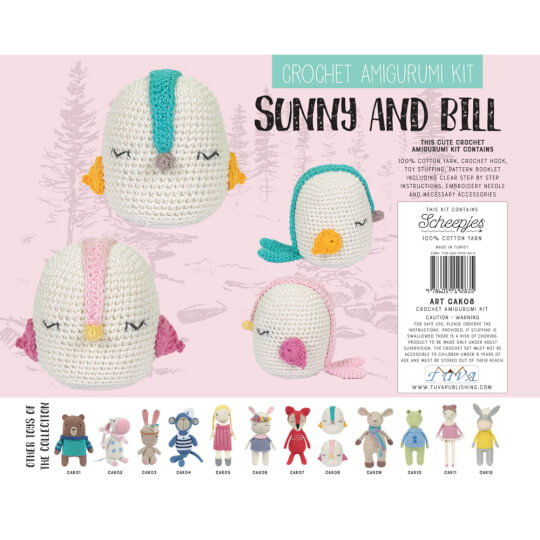 Tuva Crochet Amigurumi Kit, Rhiannon the Bunny - CAK06 - Hobiumyarns | 540x540