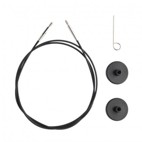 KnitPro Siyah 40 cm Tekli Ara Bağlantı Misinası - 10520