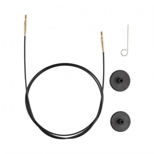KnitPro Siyah Altın 50 cm Tekli Ara Bağlantı Misinası - 10563
