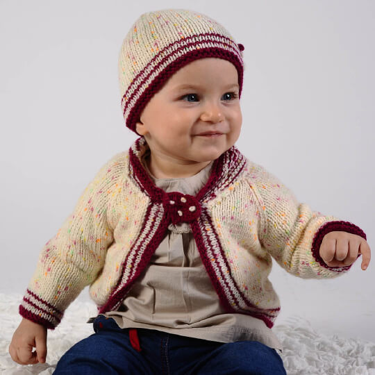 Kartopu Benekli Bebe Ebruli Bebek Yünü - H191