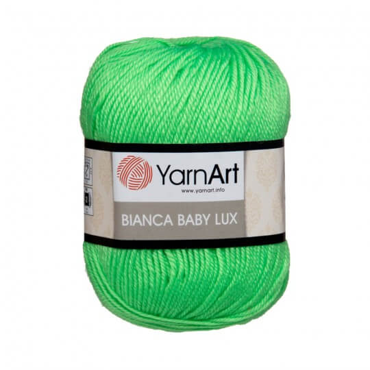 YarnArt Bianca Baby Lux Yeşil Bebek Yünü - 359