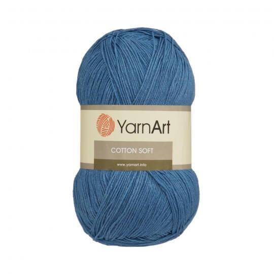 YarnArt Cotton Soft Koyu Mavi El Örgü İpi -16