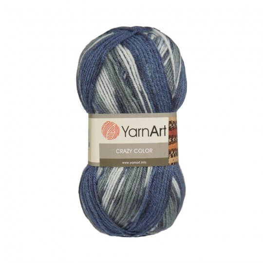 YarnArt Crazy Color Ebruli El Örgü İpi - 135