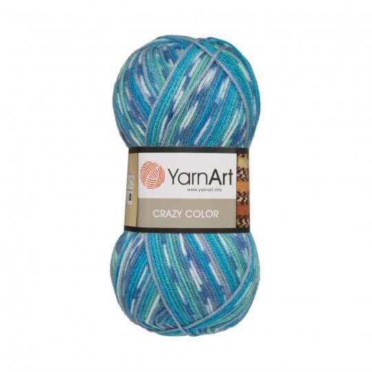 YarnArt Crazy Color Ebruli El Örgü İpi - 98