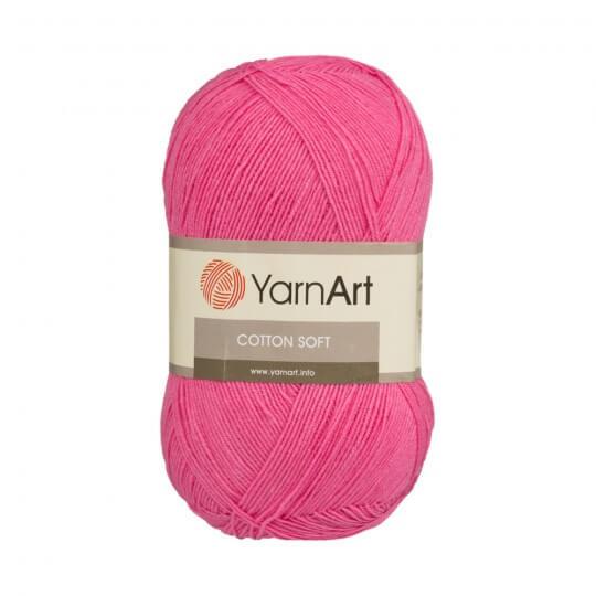 YarnArt Cotton Soft Fuşya El Örgü İpi - 42