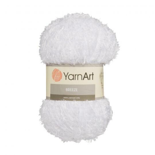 YarnArt Breeze Beyaz El Örgü İpi - 01