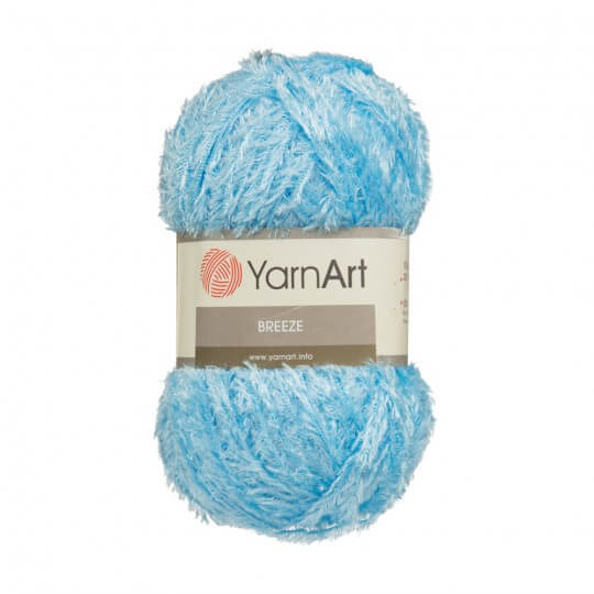 YarnArt Breeze 5'li Paket Mavi El Örgü İpi - 12
