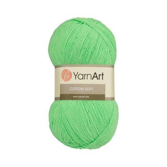 YarnArt Cotton Soft Yeşil El Örgü İpi - 60