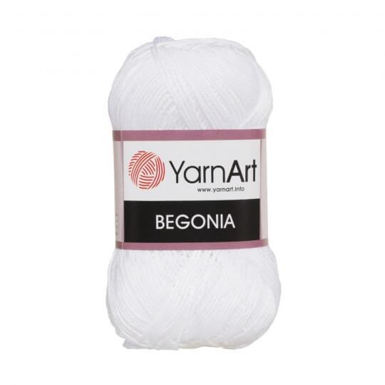 YarnArt Begonia 50gr Beyaz El Örgü İpi - 1000