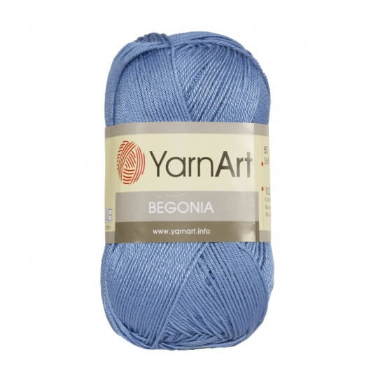 YarnArt Begonia 50gr Mavi El Örgü İpi - 5351