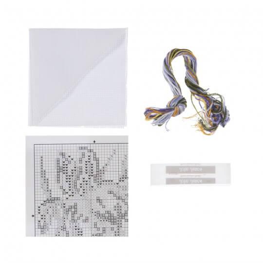RTO Baltic 10 x 10 cm Süsen Desenli Etamin Kiti - H172