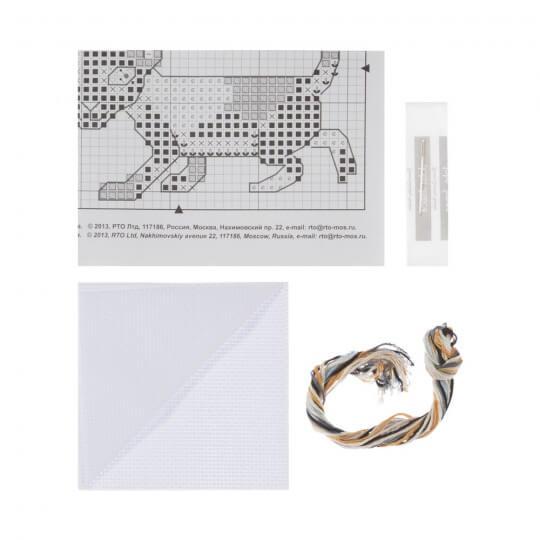 RTO Baltic 8 x 8 cm Meraklı Kedi Desenli Etamin Kiti - H230