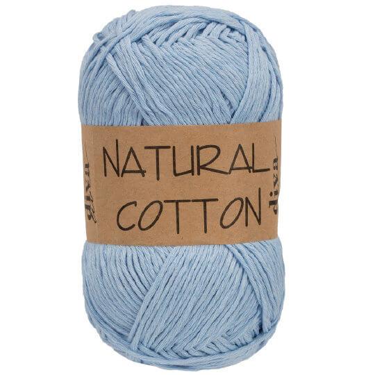 Diva Natural Cotton Bebek Mavi El Örgü İpi