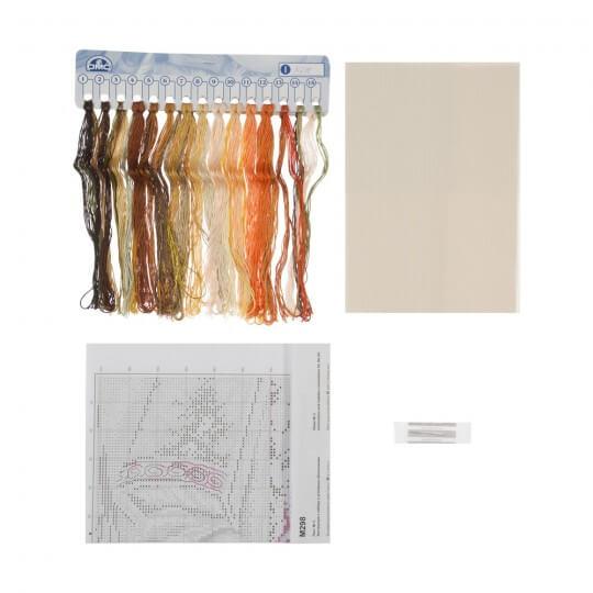 RTO Baltic 20 x 30 cm Güller ve Kitaplar Desenli Etamin Kiti - M298
