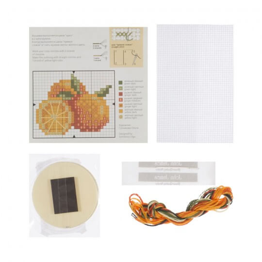 RTO Baltic 5,5 cm Çapında Portakal Desenli Magnet Etamin Kiti - MGH02
