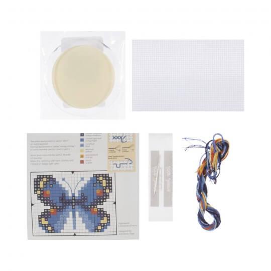 RTO Baltic 5,5 cm Çapında Mavi Kelebek Desenli Magnet Etamin Kiti - MGH04