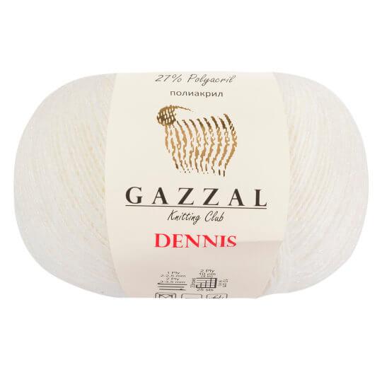 Gazzal Dennis Beyaz El Örgü İpi - 905