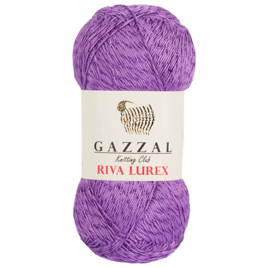 Gazzal Riva Lurex 5'li Paket Mor El Örgü İpi - 2008