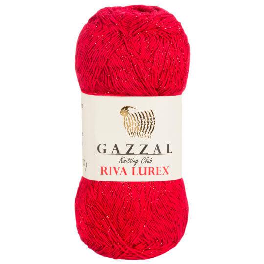 Gazzal Riva Lurex 5'li Paket Kırmızı El Örgü İpi - 2005