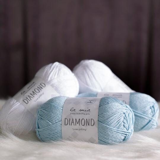 La Mia Diamond Beyaz El Örgü İpi - L001