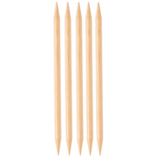KnitPro Basix Birch Huş Ağacı 10mm 20cm Çorap Şişi - 35126