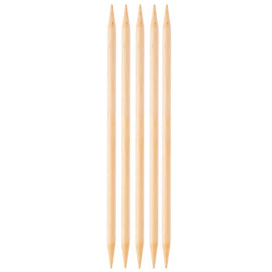 KnitPro Basix Birch Huş Ağacı 6mm 20cm Çorap Şişi - 35121