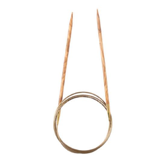 Addi Olive Wood 3,5 mm 100 cm Zeytin Ağacı Misinalı Örgü Şişi - 575-7