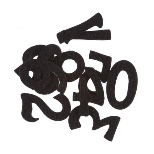 La Mia 4x2 cm 10'lu Siyah Sayı Keçe Motifler M01