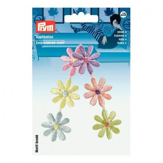 PRYM Pastel Renk Çiçek Desenli Aplike - 925489