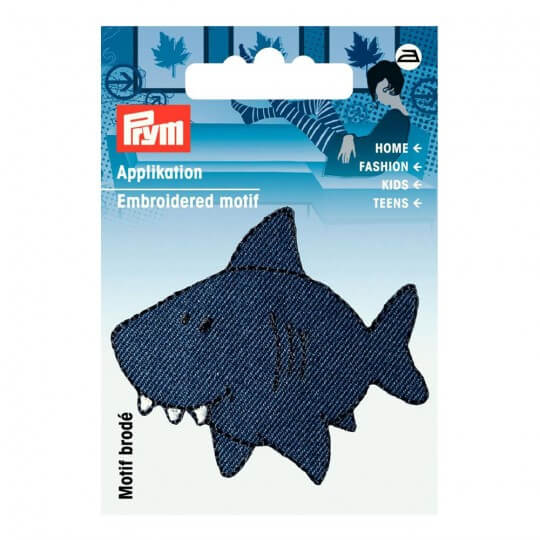 PRYM Mavi Köpekbalığı Desenli Aplike - 925436