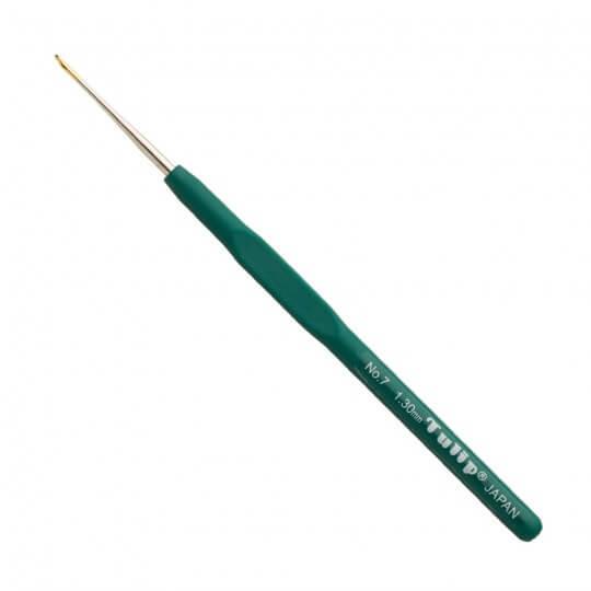 Tulip No:7 1,30 mm 14 cm Yeşil Silikon Yumuşak Saplı Dantel Tığ - T-9GE