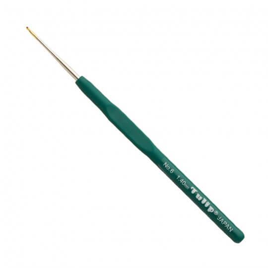 Tulip No:6 1,40 mm 14 cm Yeşil Silikon Yumuşak Saplı Dantel Tığ - T-9GE