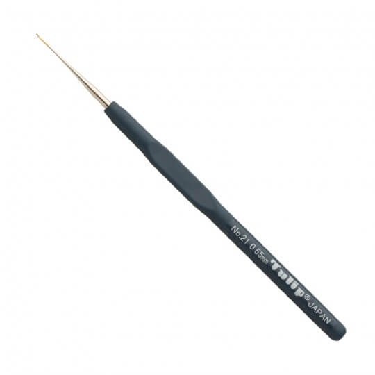 Tulip No:21 0,55 mm Siyah Silikon Yumuşak Saplı Dantel Tığ - T-9GE
