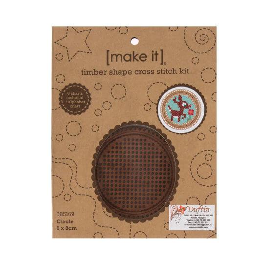 Duftin Make it 8 cm Çapında Yuvarlak Ahşap Etamin Kiti - 585169