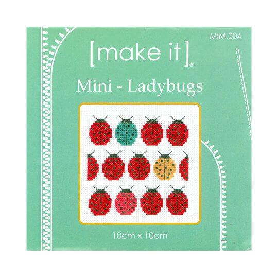 Duftin Make it 10x10 cm Uğurböceği Desenli Mini Etamin Kiti - MIM004