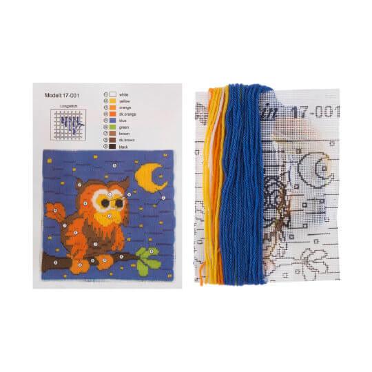 Duftin 15x15 cm Baykuş Desenli Uzun İşleme Nakış Kiti