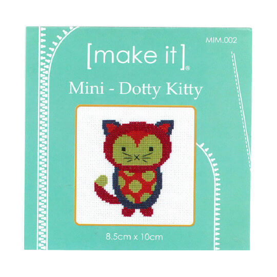 Duftin Make it 10x10 cm Kedi Desenli Mini Etamin Kiti - MIM002