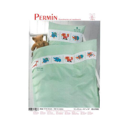Permin 12x40 cm Çocuk Yastığı İçin Bordür Formunda Etamin Kiti - 835188
