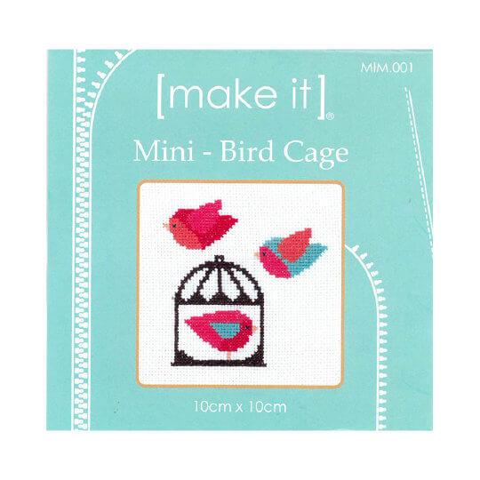 Duftin Make it 10x10 Kuş Kafesi Desenli Mini Etamin Kiti - MIM001