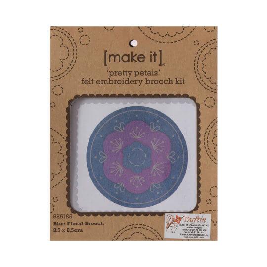 Duftin Make it 8,5x8,5 cm Broş Keçe Uzun İşleme Nakış Kiti - 585185