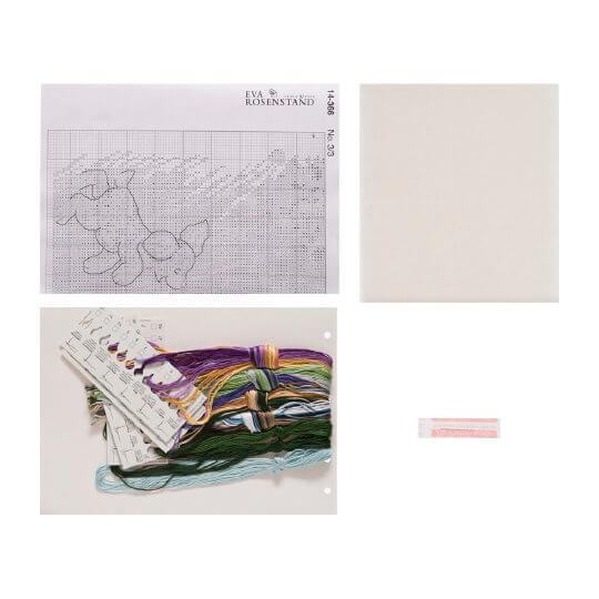 Permin 45x35 cm Kız Çocuğu ve Köpek Desenli Etamin Kiti - 14366