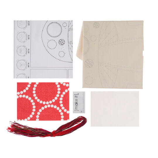 Duftin Make it 26x32 cm Mantar Yastık Zincir İşi Nakış Kiti - 585147