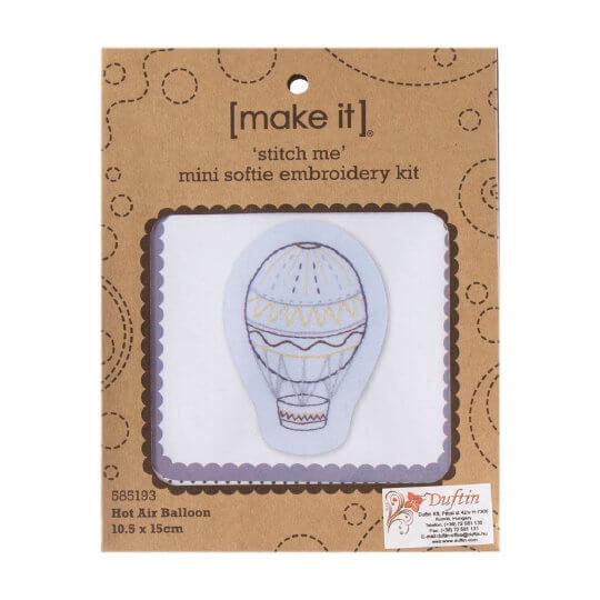 Duftin Make it 10,5x15 cm Balon Desenli Zincir İşi Nakış Kiti - 585193