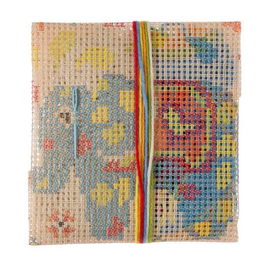 Duftin 30x30 cm Fil Desenli Yastık Etamin Kiti - 303011-aa0971