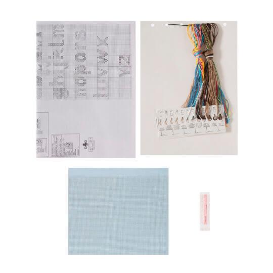 Permin 35x30 cm Mavi Ayıcık Desenli Yastık Etamin Kiti - 834309