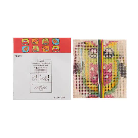 Duftin 30x30 cm Baykuş Yastık Desenli Etamin Kiti - 303007-aa0971