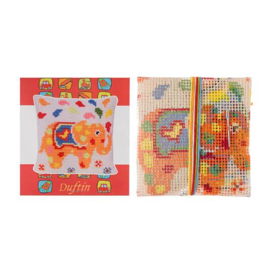 Duftin 30x30 cm Fil Desenli Yastık Etamin Kiti - 303005-aa0971