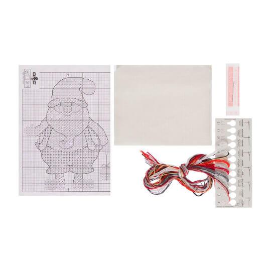 Permin 16x28 cm NoelBaba Desenli Şişe Kesesi Etamin Kiti - 795257